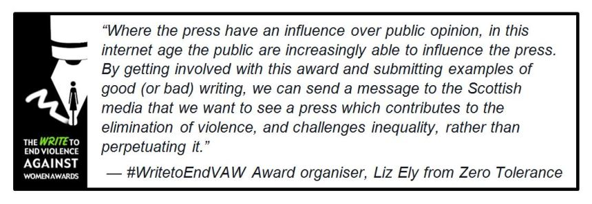 Write Awards Liz Quote